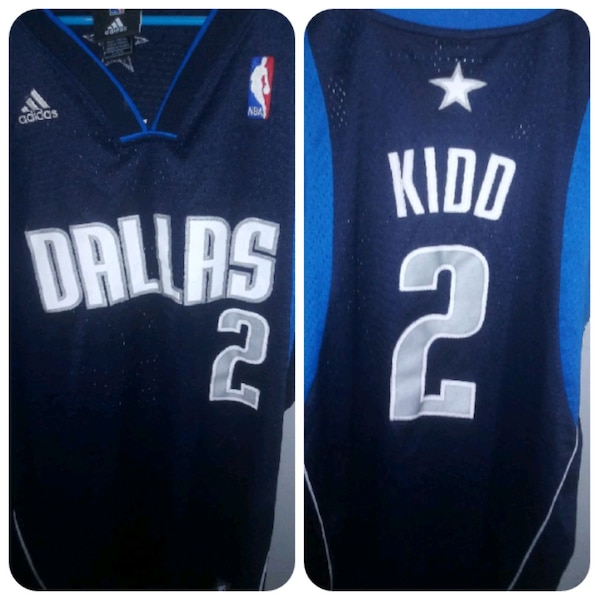huge discount 7f9a5 91fcd blue and white Jason Kidd jersey