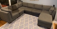 7 piece grey couch
