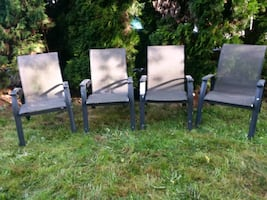 lawn chairs aluminum frame