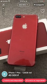 Продукт red iphone 7 plus Moscú, 123585