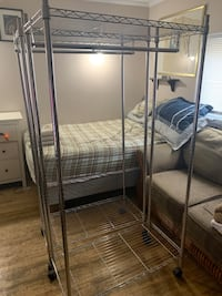"""1 clothing rack with brand new cover 65""""x18x36"""" - dorval area"""