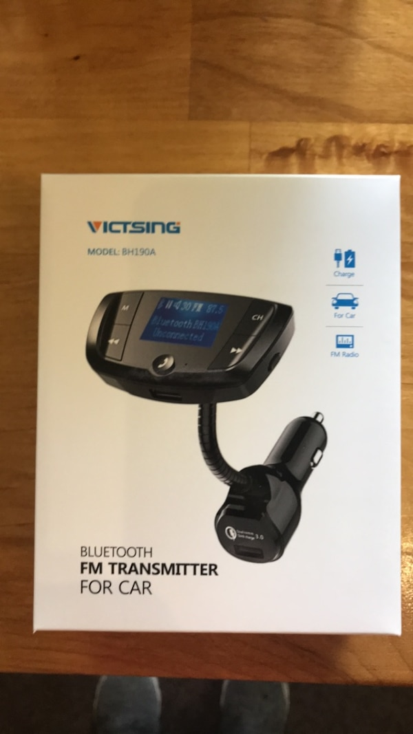 Victsing Bluetooth FM Transmitter for your car! Brand new in box  Purchased  & wasn't what I wanted