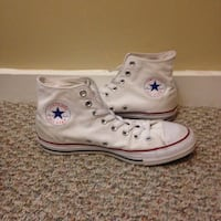 converse high tops white red casual authentic shoes