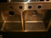 stainless steel double sink with faucet 2280 mi