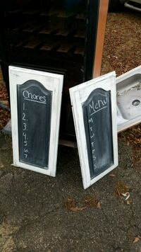 two black and white wooden chalk board Tyler, 75701