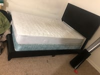 Full size bed frame and or boxsping and mattresses