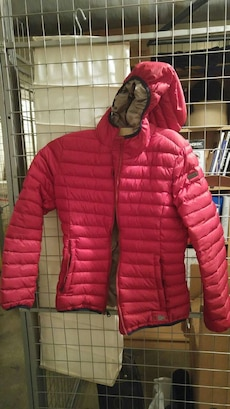 new bright red Napapijri down jacket