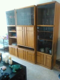 3 piece entertainment center with lights & plenty storage. Olney, 20832