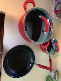3 peace Rachel Ray cooking pan and pots