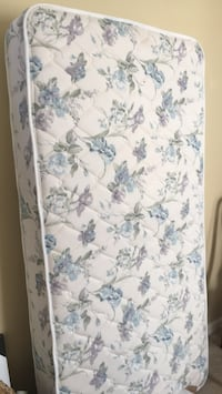 white and blue floral mattress Leesburg, 20176