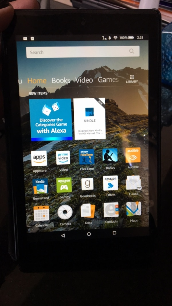 Amazon Fire 8 with Case