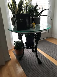 Rod iron and marble top table Markham, L6E 0S1