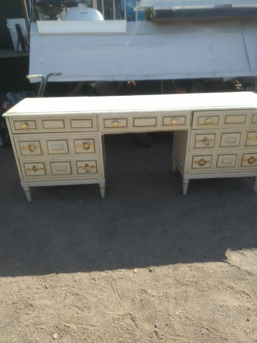 Vanity with marble top