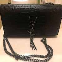 black leather crocodile skin crossbody bag Hialeah, 33018