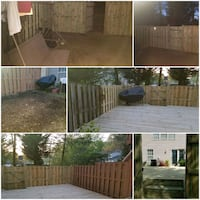 FENCE AND GROUND LEVEL DECK INSTALLATION  45 km