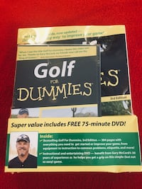 NEW Golf for Dummies Book with bonus DVD New Palestine, 46163