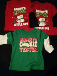 NEW CHRISTMAS SHIRTS SIZE 12 MONTHS South Bend, 46619
