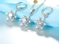 Brand New 925 Sterling Silver Snowflake Necklace+Earrings Jewelry Set  Brampton, L6V