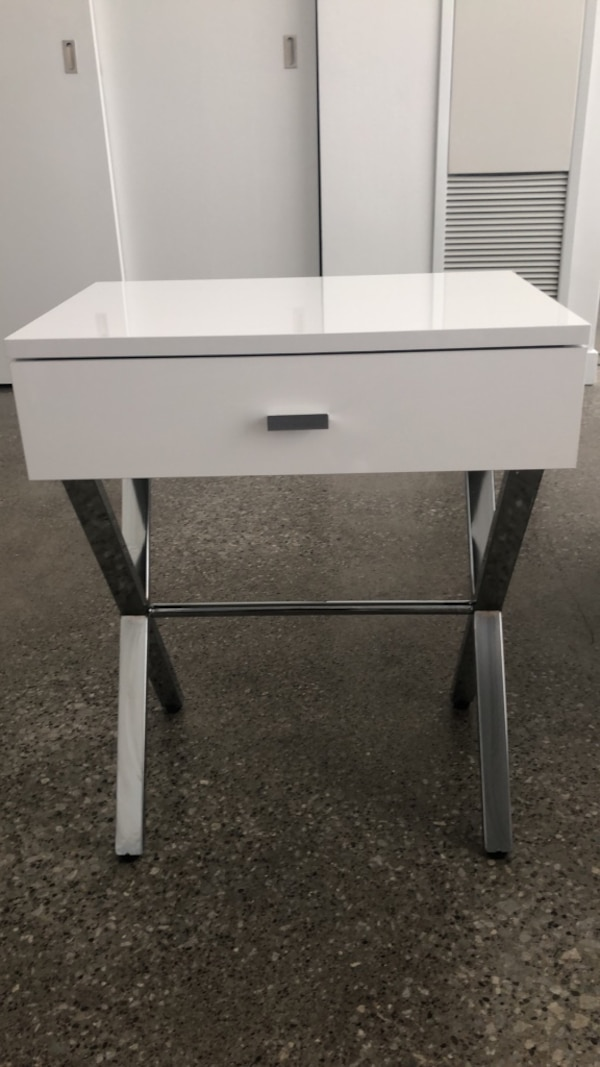 White High Gloss Night Stand Table