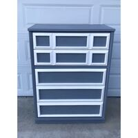 DRESSER, Gray and White, Chalk Painted Poway, 92064
