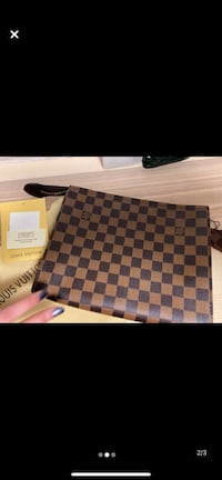 Brand new LV clutch and pouch with dust bag (leather) Toronto, M3A 2G4