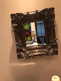 brown wooden framed wall mirror Vaughan, L4H 1H8