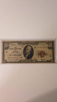 This is a 1929 $10 National Currency note Winchester, 22602