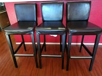 four black leather padded chairs Palmdale, 93550