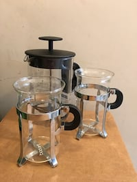 Bodum cups and milk frother Surrey, V3S 1S1