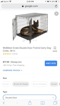 X-large dog crate Arlington, 22209