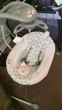 Gray amd white floral cradle and swing Raleigh, 27603