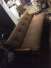 Sofa/bed, rocker and chair w/ottoman newly reupholstered