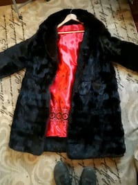 Mink coat custom made only worn couple times Surrey, V3W 1W8