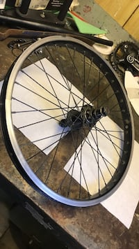 """20"""" left hand drive bmx rim bearings are brand new and rim is perfectly trued and straight  Tsawwassen, V4M 2L2"""