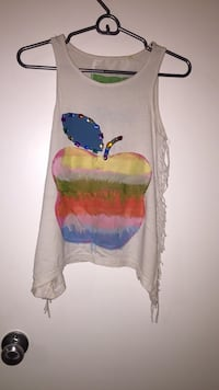Apple white sleeveless top (small)  Edmonton, T5T 0N6