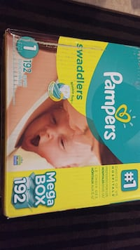 Pampers Swaddlers diaper box