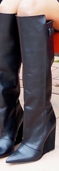TALL RARE ZARA BLACK LEATHER BOOTS -Size US 9 / UK 6.5 Montreal, QC, Canada