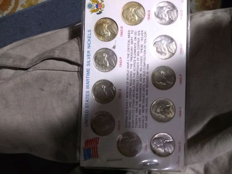 wartime silver  nickles  3