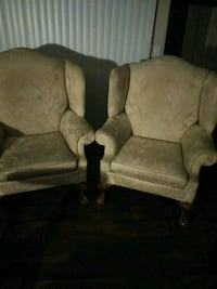 two brown suede sofa chairs Austell, 30168