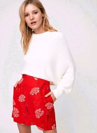 ARITZIA Wilfred Red A Line Skirt 0 XS St. Thomas, N5R 6C3