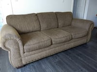 brown fabric 3-seat sofa Toronto, M1S