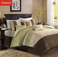 New 7pc. Queen size comforter set Toronto, M3A 1V3