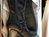 Hush Puppy High Top Women's Black Leather Boots