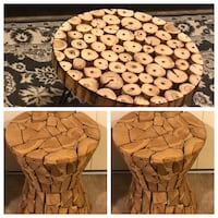 "3 heavy wood tables 24x20"" coffee table 20"" two side tables click on my profile picture on this page to check my other items pm me if you interested gaithersburg md 20877 Gaithersburg, 20877"