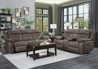 Atel Brown Double Reclining Living Room Set Houston, 77036