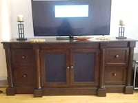 Brown wooden TV stand Montreal
