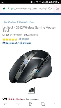 black and gray Logitech wireless mouse Germantown, 20874