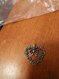 Sterling heart now w stones pendant  Anderson, 96007