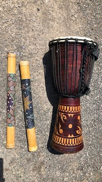 Drum and 2 rain sticks