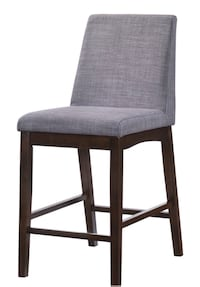 Brown wooden framed gray padded chair Washington, 20024
